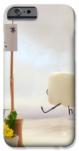 Marshmallow Marathon iPhone Case by Heather Applegate