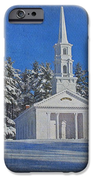 Martha Mary Chapel in Winter iPhone Case by Jayne Carney