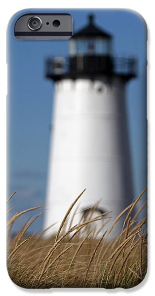 New England Lighthouse iPhone Cases - Marthas Vineyard Edgartown Lighthouse iPhone Case by Juergen Roth