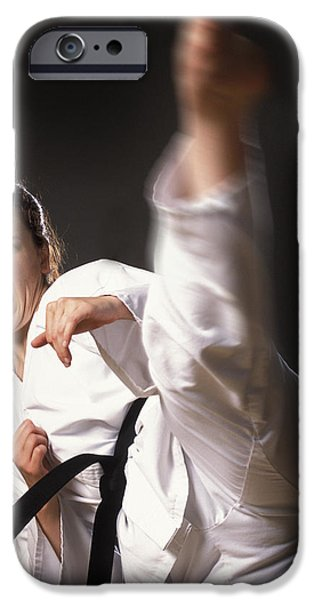 Practise iPhone Cases - Martial Arts Kick iPhone Case by Don Hammond