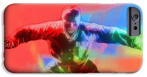 Mixed Martial Artist Digital Art iPhone Cases - Martial Arts Pop Art Poster iPhone Case by Dan Sproul