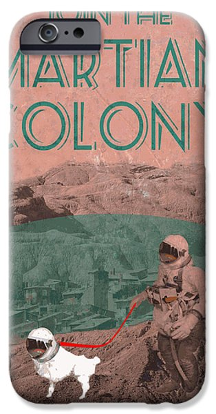 Martian Colony Mars Travel Advertisement iPhone Case by