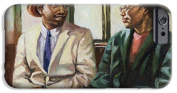 Civil Rights iPhone Cases - Martin and Rosa Up Front iPhone Case by Colin Bootman