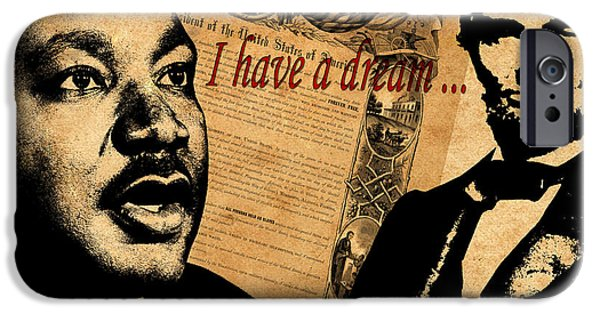 Proclamation iPhone Cases - Martin Luther King Jr 2 iPhone Case by Andrew Fare