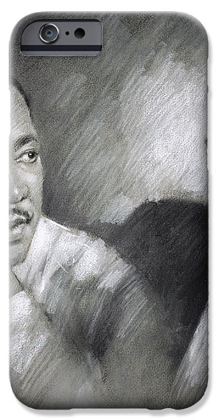 Martin Luther King Jr and Malcolm X iPhone Case by Ylli Haruni