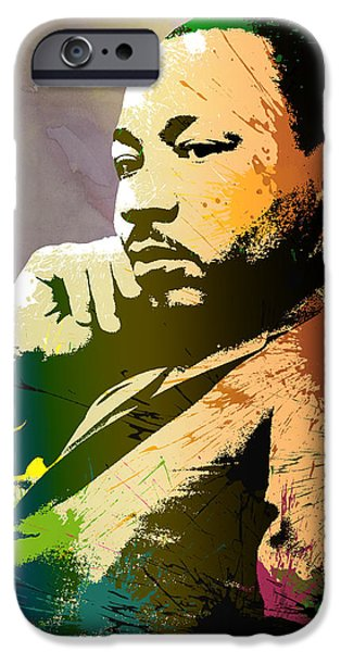Discrimination Digital iPhone Cases - Martin Luther King Jr.  iPhone Case by Anthony Mwangi