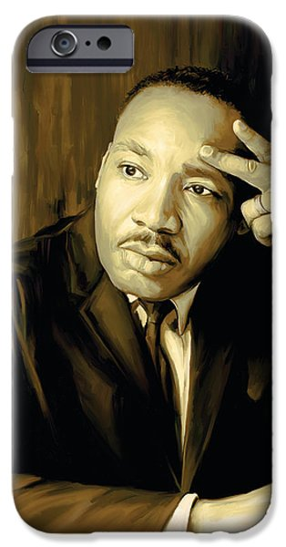 Martin Luther King Jr Artwork iPhone Case by Sheraz A