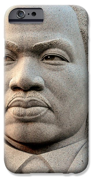 D.c. Mixed Media iPhone Cases - Martin Luther King Jr iPhone Case by Davids Digits
