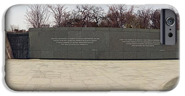 Martin Luther King Jr iPhone Cases - Martin Luther King Jr. Memorial At West iPhone Case by Panoramic Images