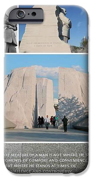 Martin Luther King Jr Memorial Collage 1 iPhone Case by Allen Beatty