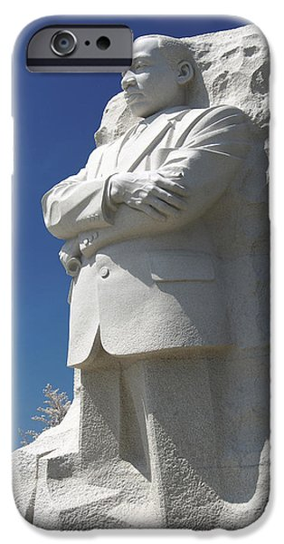 Memorial Digital iPhone Cases - Martin Luther King Jr. Memorial iPhone Case by Mike McGlothlen