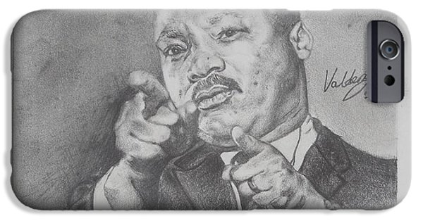 Barack Obama iPhone Cases - Martin Luther King Jr iPhone Case by Valdengrave Okumu