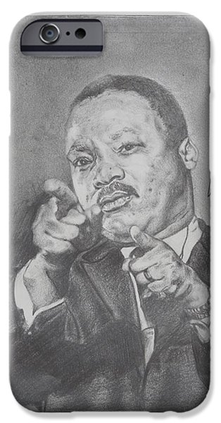 Martin Luther King Jr iPhone Case by Valdengrave Okumu