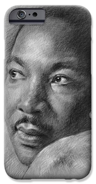 Martin Luther King Jr iPhone Case by Ylli Haruni