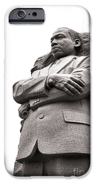 D.c. iPhone Cases - Martin Luther King Memorial Statue iPhone Case by Olivier Le Queinec