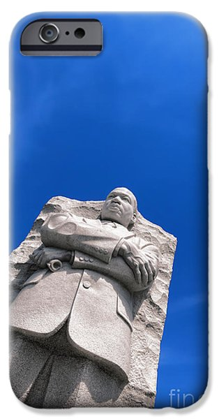 D.c. iPhone Cases - Martin Luther King iPhone Case by Olivier Le Queinec