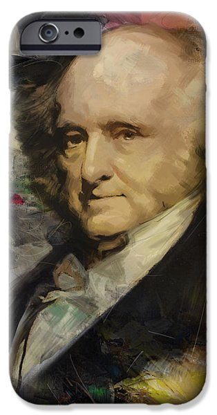 Thomas Jefferson Paintings iPhone Cases - Martin Van Buren iPhone Case by Corporate Art Task Force