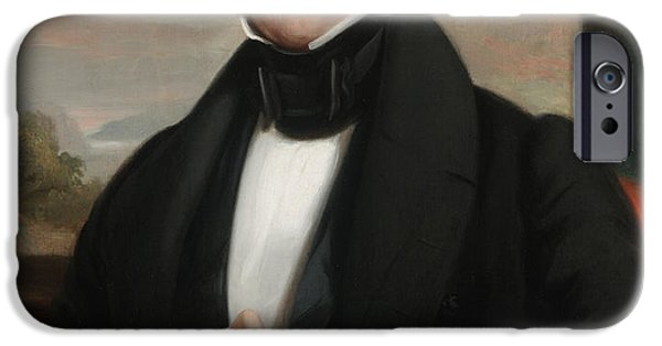 White House Paintings iPhone Cases - Martin Van Buren iPhone Case by Shepard Alonzo Mount