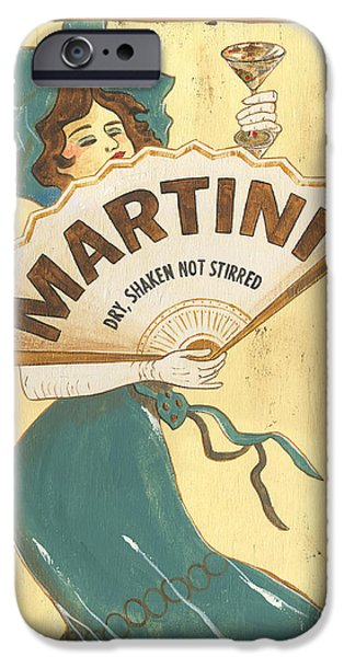 Texture Paintings iPhone Cases - Martini dry iPhone Case by Debbie DeWitt