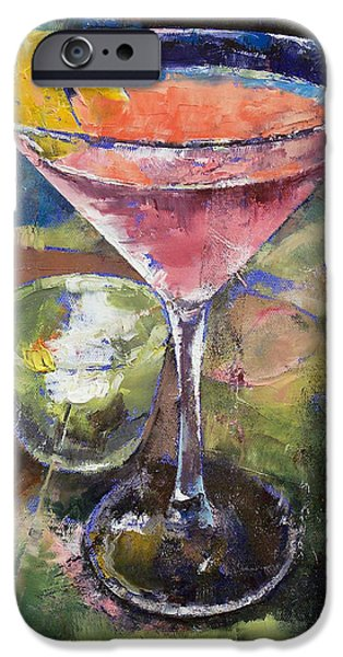 Deco iPhone Cases - Martini iPhone Case by Michael Creese
