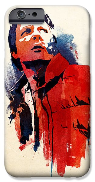 Science Fiction Mixed Media iPhone Cases - Marty McFly iPhone Case by Robert Farkas