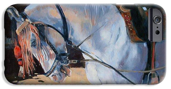 Reining iPhone Cases - Marwari Horse iPhone Case by Jennifer Wright