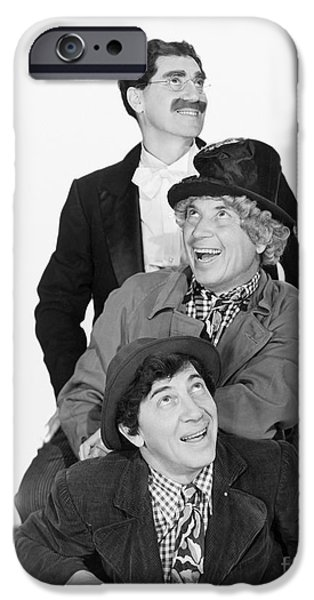 Chico iPhone Cases - Marx Brothers - Groucho Harpo and Chico Marx iPhone Case by MMG Archive Prints