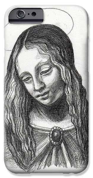Mary After DaVinci iPhone Case by Genevieve Esson