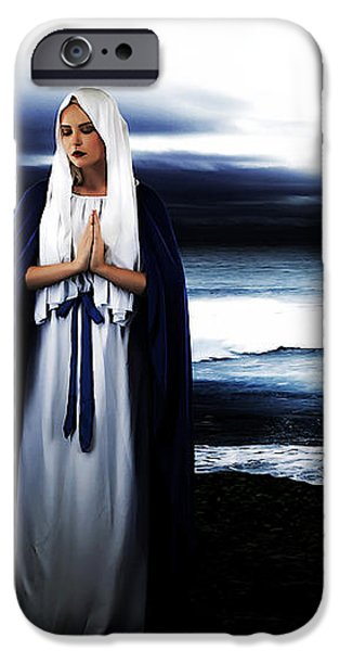 Mary by the Sea iPhone Case by Cinema Photography