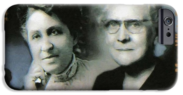 Abolition Paintings iPhone Cases - Mary Church Terrell and Mary White Ovington iPhone Case by Lanjee Chee