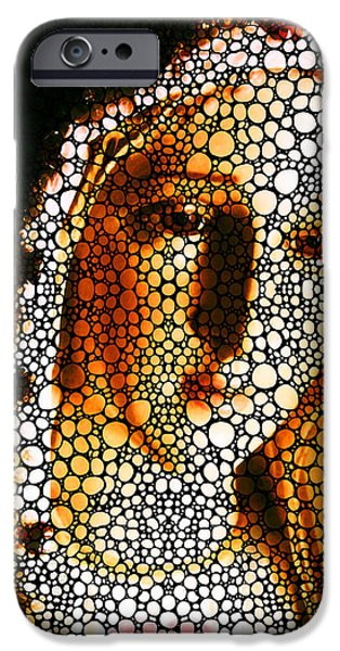 The Church Mixed Media iPhone Cases - Mary - Holy Mother By Sharon Cummings iPhone Case by Sharon Cummings
