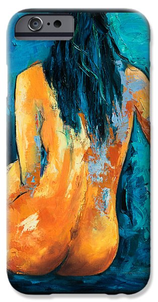 Young Paintings iPhone Cases - Mary Lou iPhone Case by Elise Palmigiani