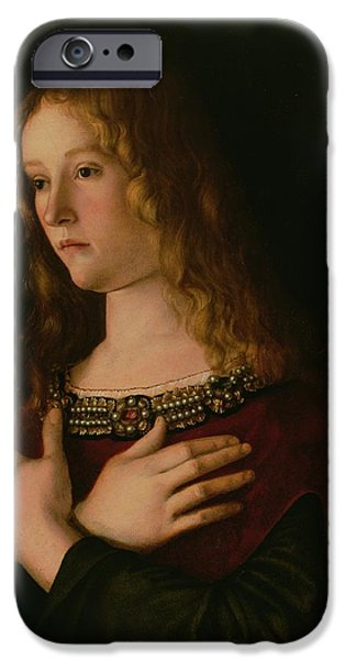 Renaissance iPhone Cases - Mary Magdalene iPhone Case by Giovanni Bellini