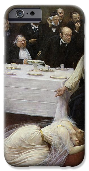 Mary iPhone Cases - Mary Magdalene in the house of the Pharisee iPhone Case by Jean Beraud