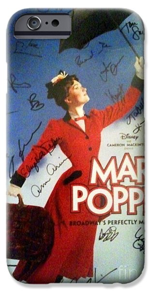 Recently Sold -  - Autographed iPhone Cases - Mary Poppins Broadway Musical Poster Signed by the Cast iPhone Case by Christina Wysocki