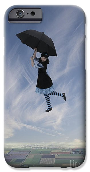 Narrative iPhone Cases - Mary Poppins iPhone Case by Linda Lees