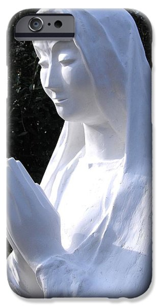 Jesus Sculptures iPhone Cases - Mary Praying 2009 iPhone Case by Karl Leonhardtsberger