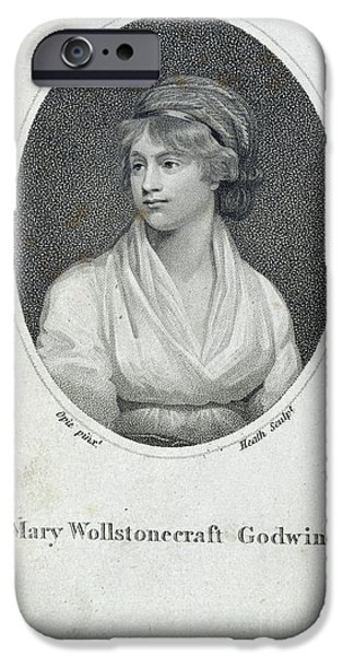 Opie iPhone Cases - Mary Wollstonecraft Godwin iPhone Case by British Library