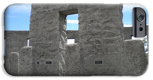 Wwi iPhone Cases - Maryhill Stonehenge 038 iPhone Case by Ron Schreiner