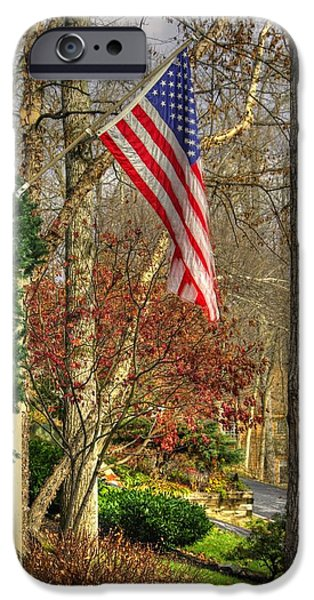 Maryland Country Roads - Flying the Colors 1A iPhone Case by Michael Mazaika