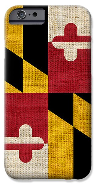 Maryland state flag iPhone Case by Pixel Chimp
