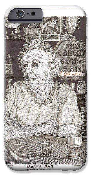 Marys Bar Cerrillos New Mexico iPhone Case by Jack Pumphrey