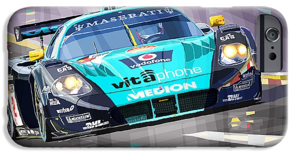 Racing Mixed Media iPhone Cases - Maserati MC12 GT1 iPhone Case by Yuriy Shevchuk