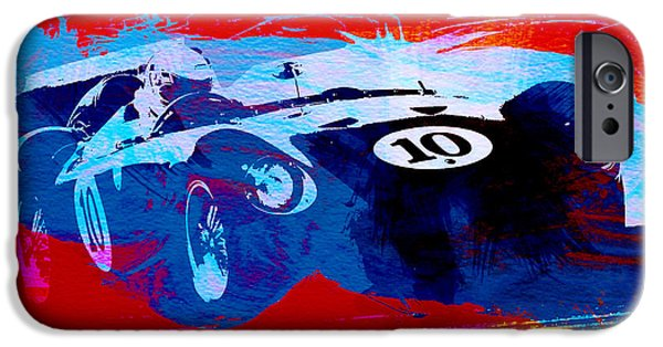 Racing Photographs iPhone Cases - Maserati on the Race Track 1 iPhone Case by Naxart Studio