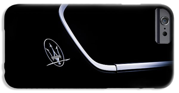 Monochrome iPhone Cases - Maserati Quattroporte  iPhone Case by Tim Gainey