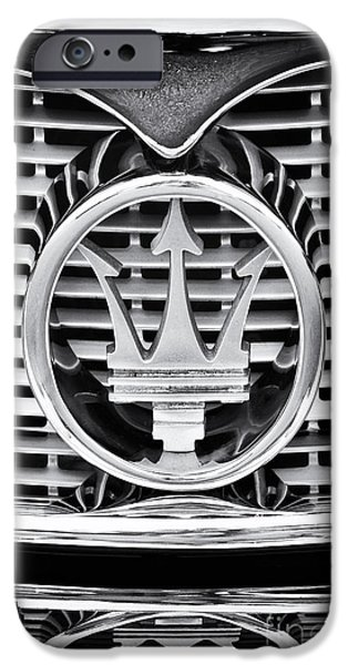 60s Photographs iPhone Cases - Maserati  iPhone Case by Tim Gainey