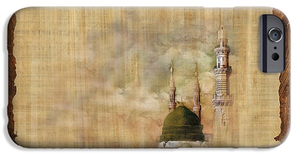 Jordan iPhone Cases - Masjid e Nabwi 01 iPhone Case by Catf