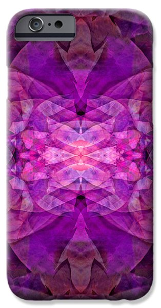 Counterpoint iPhone Cases - Mask of Mayhem 5 iPhone Case by Lynda Lehmann