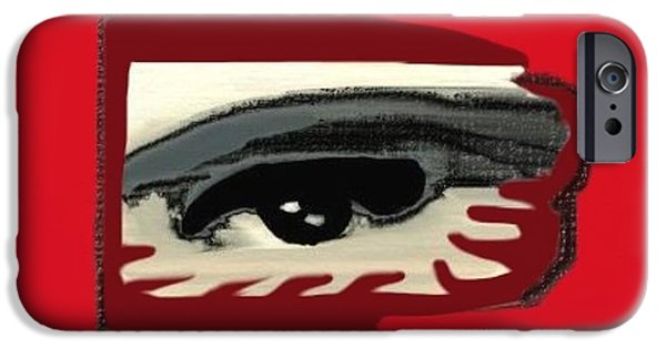 Model iPhone Cases - Masked eye distorted vision iPhone Case by Frances Lewis