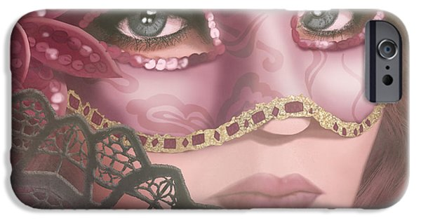 Auburn iPhone Cases - Masked IV iPhone Case by April Moen